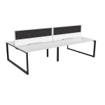 Groove 4 Person Double Sided Workstations