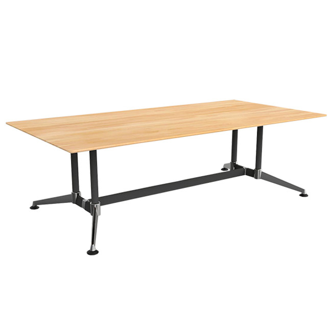 Adapt Solid Beech Timber Boardroom Table