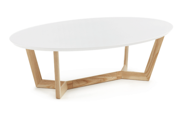 Surf Coffee Table - Wooden Legs