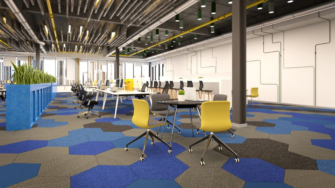 Complete Modern Office Design with Workstations, Office Storage and Training Chairs