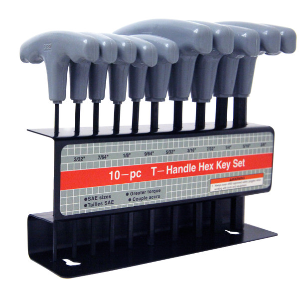HEX KEY WRENCH SET IN. TIN. HANDLE METRIC