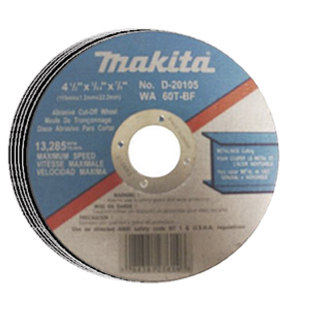 CUT OFF WHEEL THN 5IN. 5PCS MAKITA