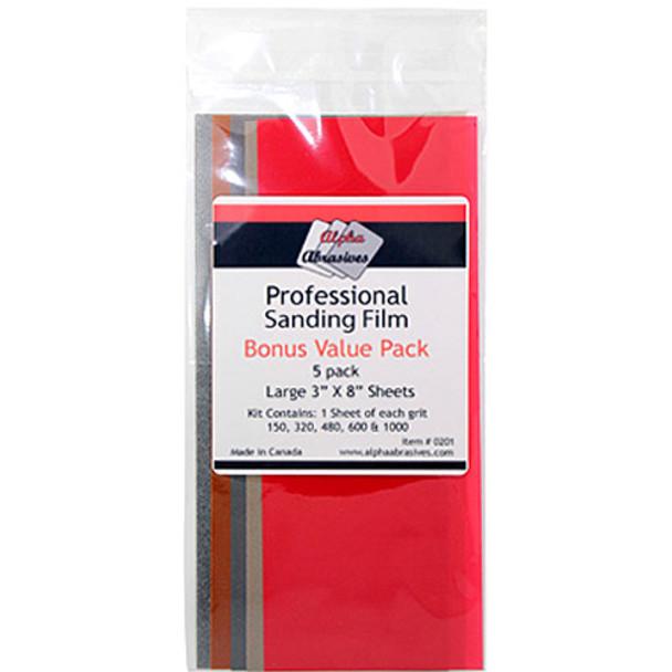 SANDING FILM 3IN. X 8IN. 5/PACK PROFESSIONAL