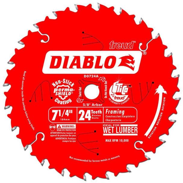 7 1/4IN. X 24T FRAMING BLADE DIABLO
