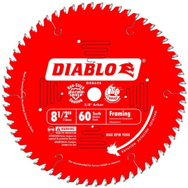8 1/2IN. X 60T FINISHING BLADE DIABLO