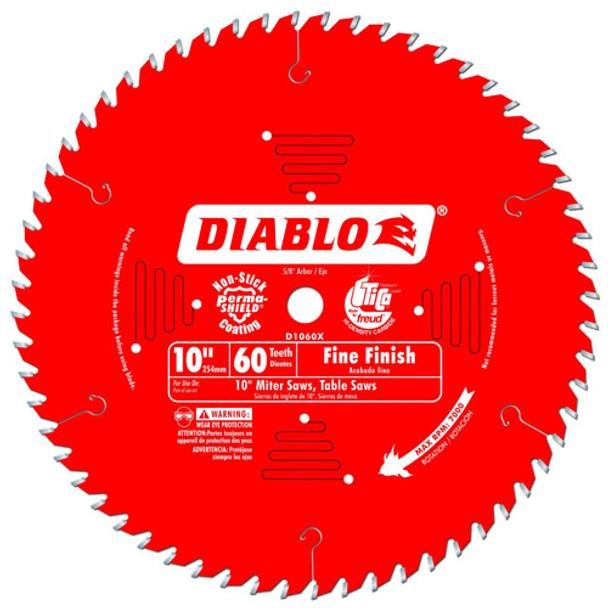 10IN. X 60T FINISHING BLADE DIABLO