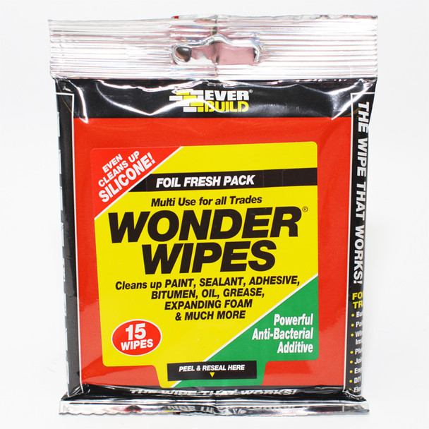 WONDER WIPES FOIL PACKS 15PC