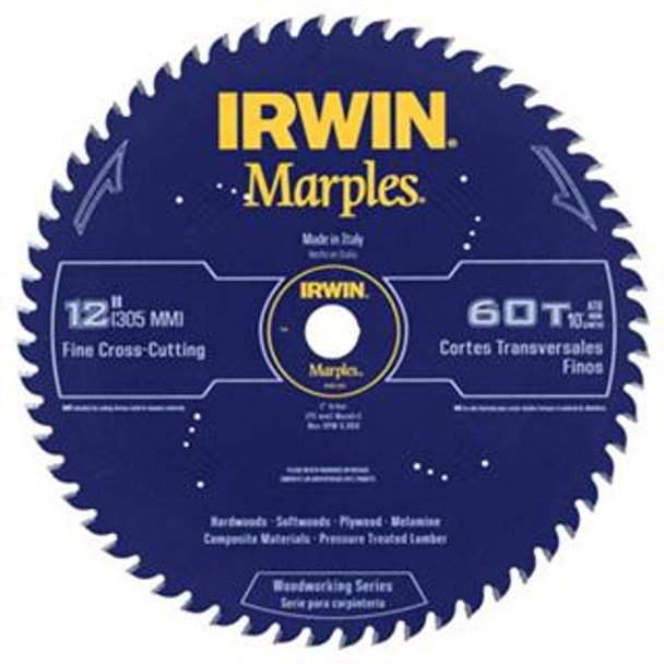 IRWIN MARPLES 12IN. SAW BLADE 60T ATB