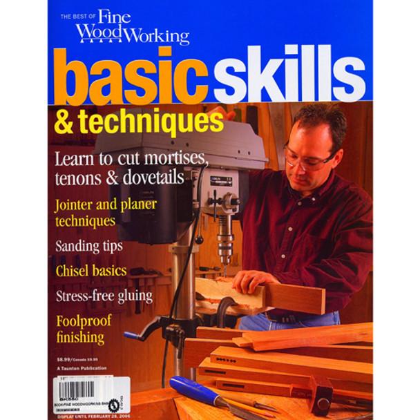 BOOK FINE WOODWOORKING BASIC SKILLSAND TECH