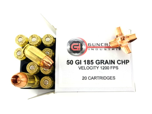 .50GI 185gr Solid Copper Hollow Point Ammunition | Guncrafter Industries