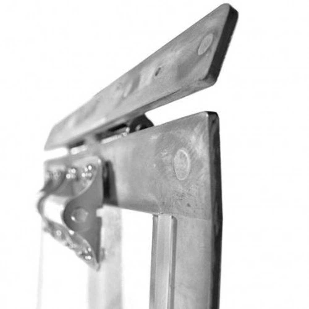 Heavy duty spring hinges  hold the acrylic panel separately from the frame so that dogs can reenter while door maintains weather tight seal.