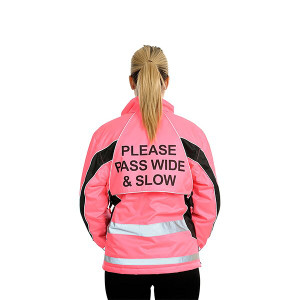 Equisafety Polite Aspey Winter Jacket - Pink Hi-Viz