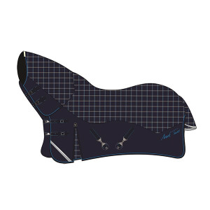 Mark Todd Lightweight Combo Turnout Rug - Plaid Navy