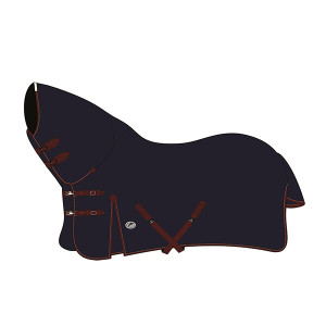 JHL Heavyweight Combo Turnout Rug - Navy & Burgundy