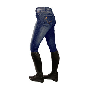Mark Todd Ladies Dark Denim Breeches - Blue Jean