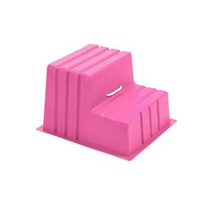 Stubbs Mountie S521 Horse Mounting Block - Pink