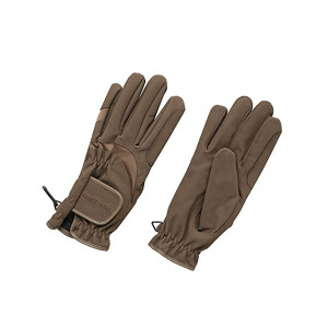 Harry Hall Domy Suede Gloves - Brown
