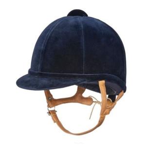 Charles Owen Fian Velvet Show Hat Adult - Navy