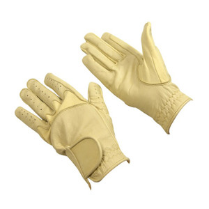 Bitz Flex Leather Adult Gloves - Beige