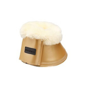Caldene Sheepskin Over-Reach Boots - Patent Gold