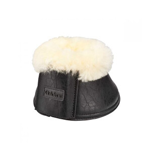 Caldene Sheepskin Over-Reach Boots - Vintage Black