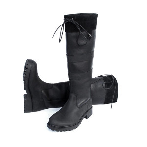 Rhinegold Elite Brooklyn Leather Country Boots - Black