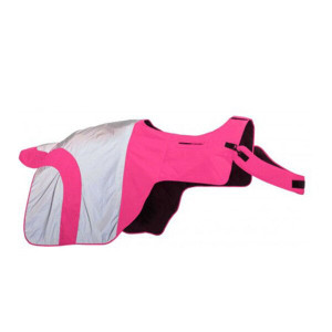 Equisafety Mercury Exercise Rug - Hi-Viz Pink