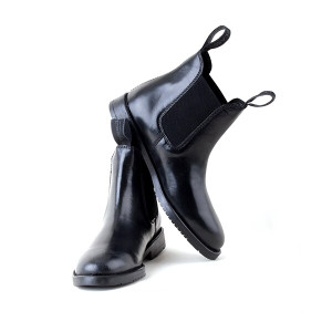 Rhinegold Adults Classic Leather Jodhpur Riding Boots - Black