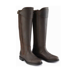 Caldene Buckland Tall Country Boots - Waxed Leather