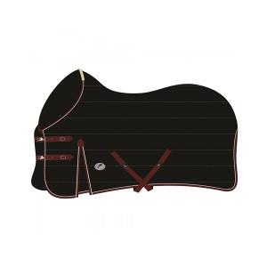 JHL Mediumweight Stable Rug - Black/Burgundy/White