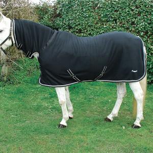 Rhinegold Full Neck Combo Fleece Rug - Black