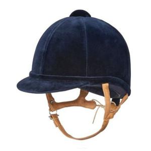 Charles Owen Childrens Fian Velvet Show Hat - Navy