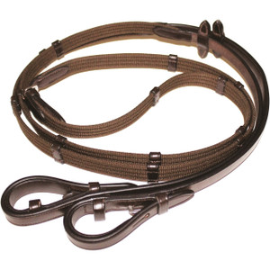 Mark Todd Continental Leather Reins - Brown