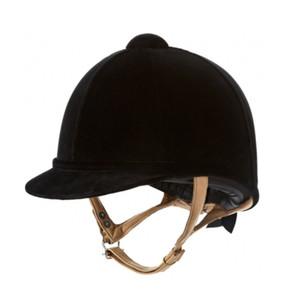 Charles Owen Fian Velvet Show Childrens Hat - Black