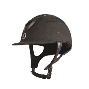 Gatehouse Conquest MK II Riding Hat - Black Soft Finish Crystal