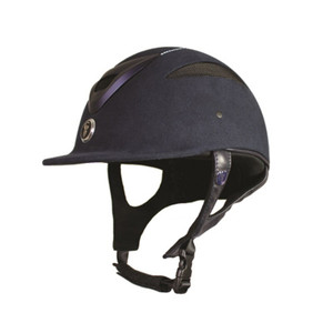 Gatehouse Conquest MK II Riding Hat - Navy Soft Finish Crystal
