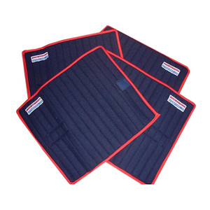 John Whitaker Horse Leg Wraps (Set of 4) - Navy & Red
