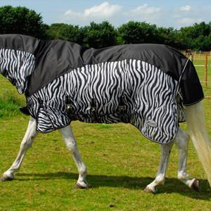 Rhinegold Masai 2 Combined Outdoor / Fly Rug - Zebra