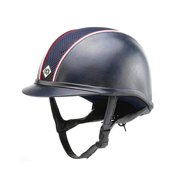 Owens Leather Look AYR8 Hats - Navy/Red/White