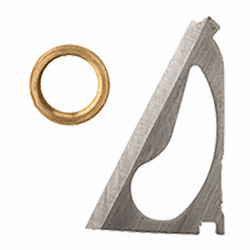 XL & CROSSBOW REPLACEMENT BLADES & BRASS RINGS FOR 100 and 125 GRAIN BROADHEADS