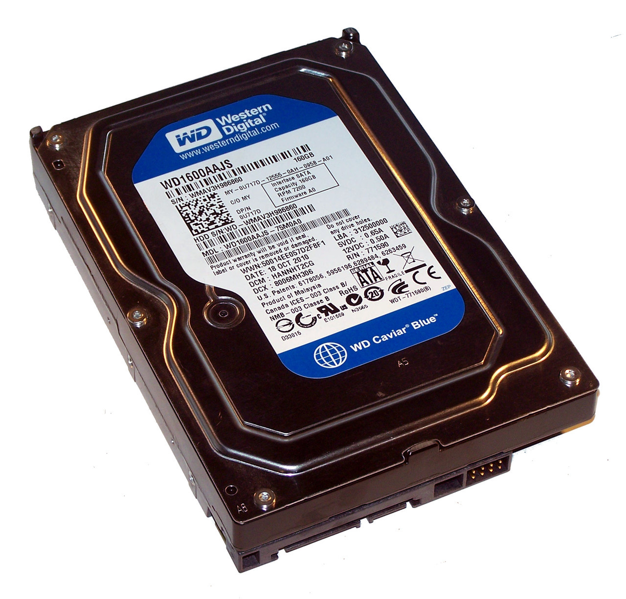 Buy internal hard drive | 160GB Western Digital SATA 3.5 Desktop Hard Drive