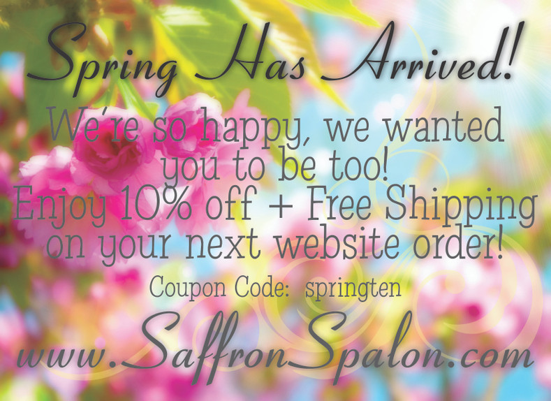 Spring Has Arrived!  We're so happy, we wanted you to be too!