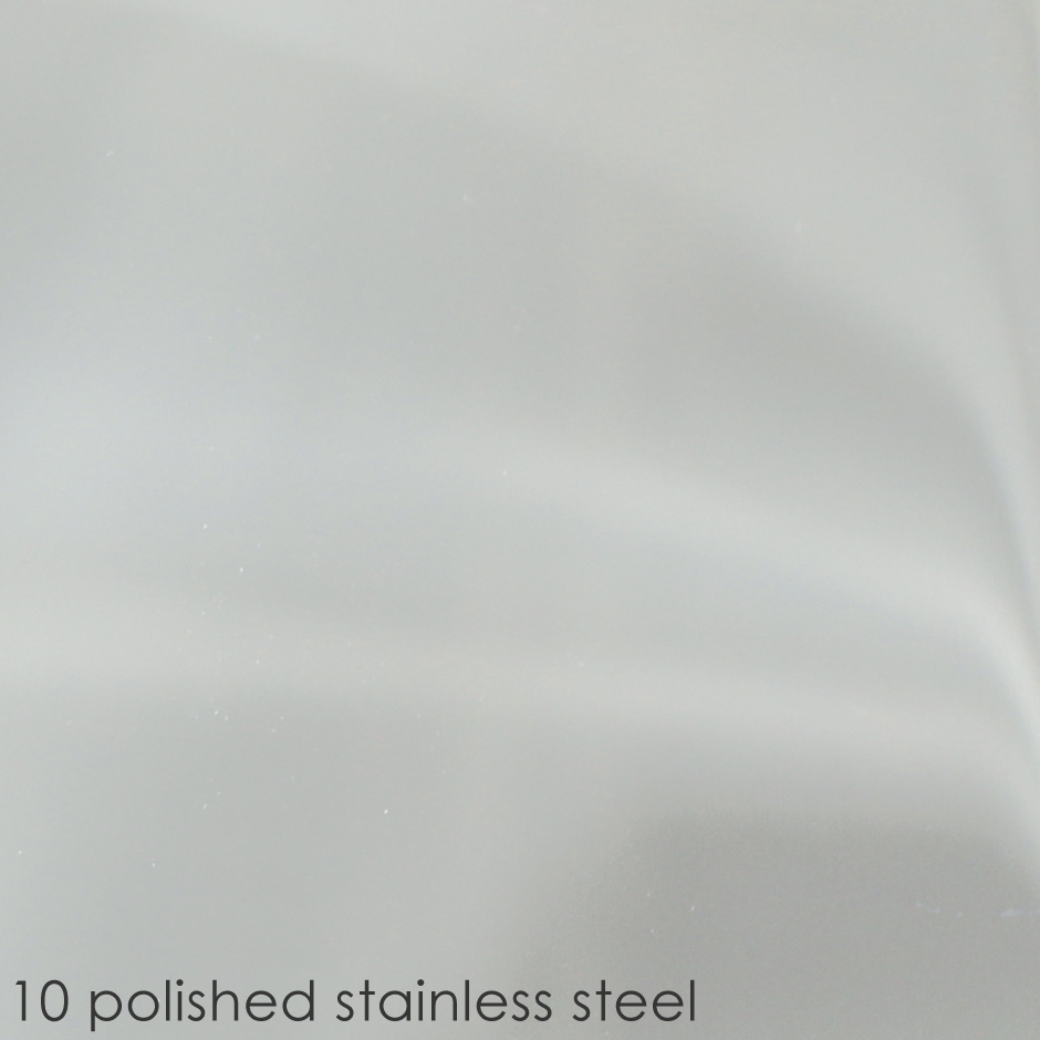 10 polished stainless steel