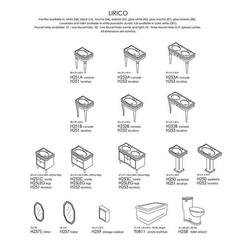 "Lirico Collection 28""-47""W"