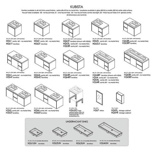 "Kubista Collection 24""-72""W"