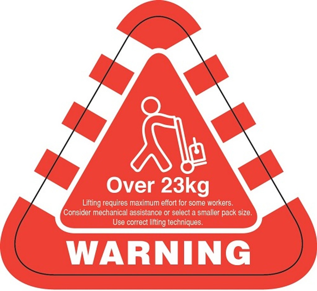 Weight Labels Over 23kg