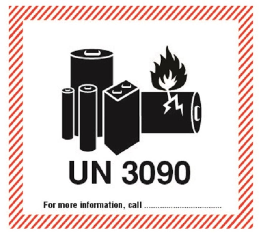 Lithium Metal Cells or Batteries UN 3090