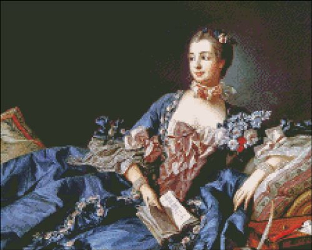 Madame Pompadour in Blue Gown