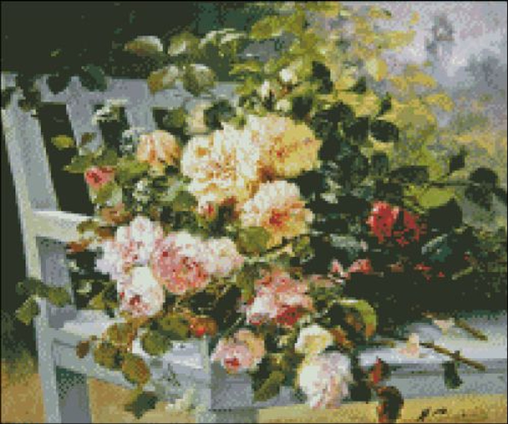 Roses on a Bench