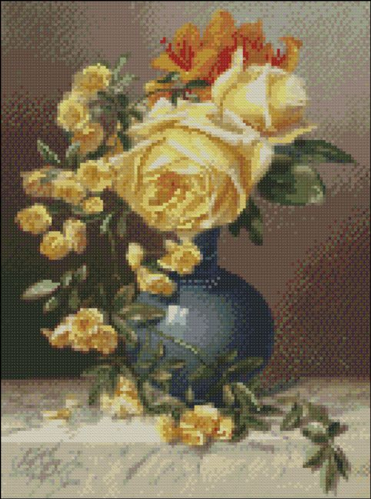 Roses in a Vase by Duffield